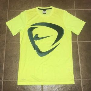 Nike Dri Fit Yellow Breathable Tee